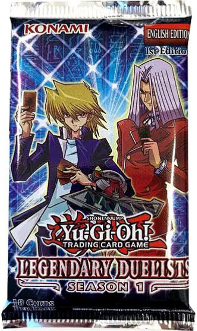 YuGiOh Trading Card Game Legendary Duelists Season 1 Booster Pack [18 Cards]