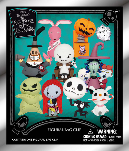 Nightmare Before Christmas 3D Figural Foam Bag Clip NBC Series 5 Mystery Pack [1 RANDOM Figure] (Pre-Order ships October)