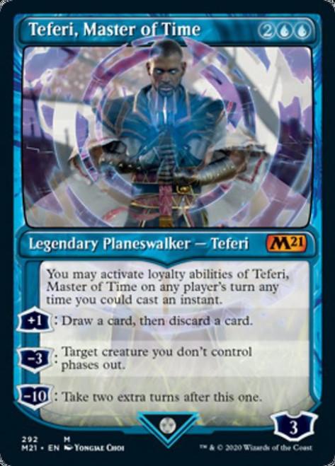 MtG 2021 Core Set Mythic Rare Teferi, Master of Time #292 [Showcase Version 3]
