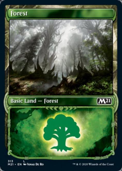 MtG Core Set 2021 Land Forest #313 [Showcase Foil]
