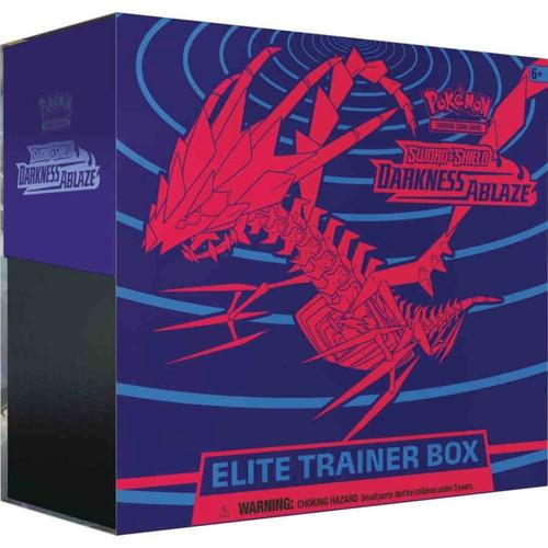 Pokemon Trading Card Game Sword & Shield Darkness Ablaze Eternatus Elite Trainer Box [8 Booster Packs, 65 Card Sleeves, 45 Energy Cards & More!]