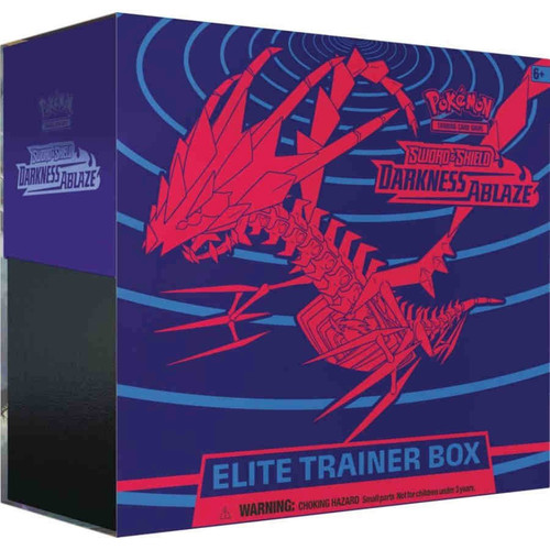 Pokemon Trading Card Game Sword & Shield Darkness Ablaze Eternatus Elite Trainer Box [8 Booster Packs, 65 Card Sleeves, 45 Energy Cards & More]