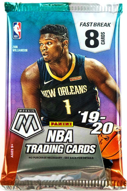 NBA Panini 2019-20 Prizm Mosaic FAST BREAK Basketball Trading Card Pack [8 Cards!]