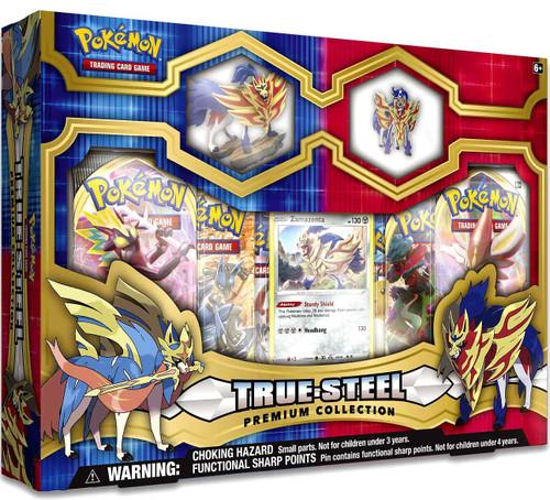 Pokemon Trading Card Game True Steel Zamazenta Premium Collection [6 Booster Packs, Figure, Promo Card & Pin!]