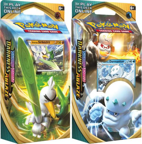 Pokemon Trading Card Game Sword & Shield Darkness Ablaze Sirfetch'd & Damanitan Set of Both Theme Decks