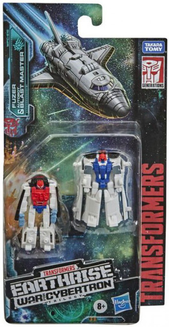 Transformers Generations Earthrise: War for Cybertron Trilogy Fuzer & Blast Master Micromaster Action Figure 2-Pack [Astro Squad] (Pre-Order ships March)