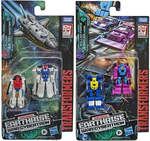 Transformers Generations Earthrise: War for Cybertron Trilogy Fuzer & Blast Master and Roller & Ground Hog Micromaster Set of Both Action Figure 2-Packs (Pre-Order ships March)