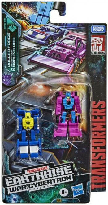 Transformers Generations Earthrise: War for Cybertron Trilogy Roller & Ground Hog Micromaster Action Figure 2-Pack [Race Track Control] (Pre-Order ships April)