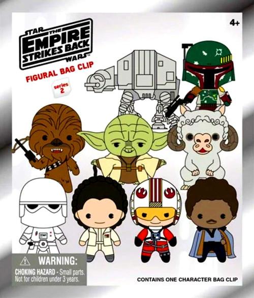 3D Figural Foam Bag Clip Star Wars Series 2 The Empire Strikes Back Mystery Pack [1 RANDOM Figure]