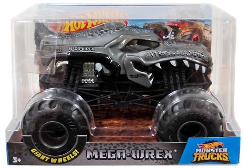 Hot Wheels Monster Trucks Mega-Wrex Diecast Car [Chrome Engine, Damaged Package]
