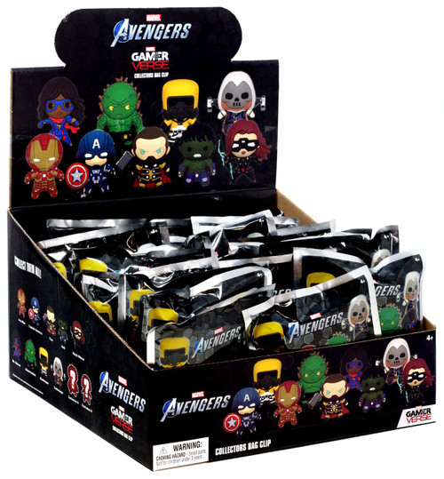 Marvel 3D Figural Foam Bag Clip Series 1 Avengers Game Mystery Box [24 Packs]