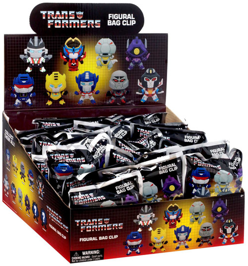 3D Figural Keyring Transformers Series 1 Mystery Box [24 Packs]