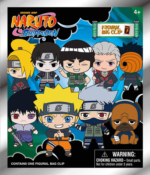 3D Figural Keyring Naruto Shippuden Series 3 Mystery Pack (Pre-Order ships February)