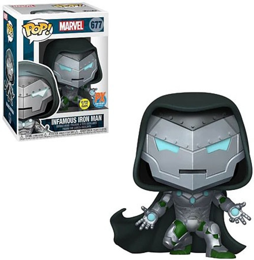Funko POP! Marvel Infamous Iron Man Exclusive Vinyl Figure #677 [Glows in the Dark] (Pre-Order ships January)