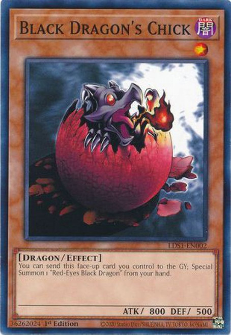 YuGiOh Legendary Duelists: Season 1 Common Black Dragon's Chick LDS1-EN002