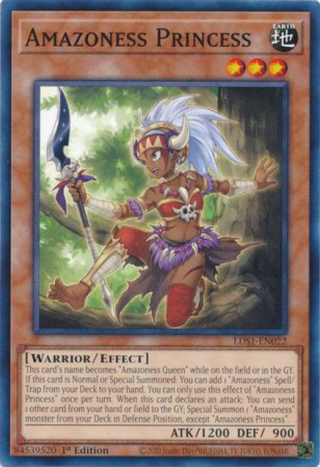 YuGiOh Legendary Duelists: Season 1 Common Amazoness Princess LDS1-EN022