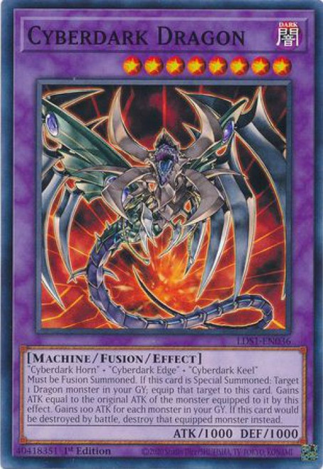 YuGiOh Legendary Duelists: Season 1 Common Cyberdark Dragon LDS1-EN036