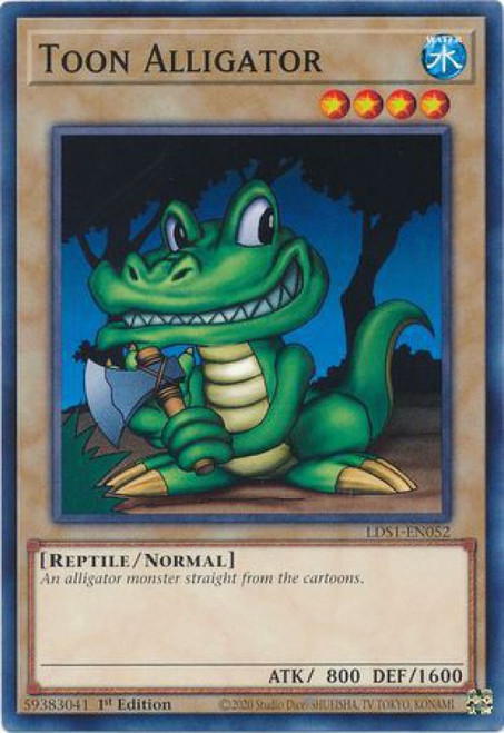 YuGiOh Legendary Duelists: Season 1 Common Toon Alligator LDS1-EN052