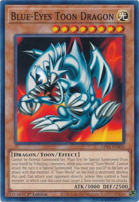 YuGiOh Legendary Duelists: Season 1 Common Blue-Eyes Toon Dragon LDS1-EN056