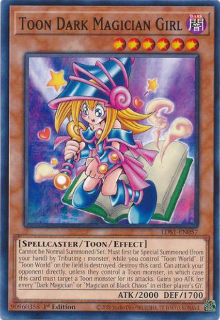 YuGiOh Legendary Duelists: Season 1 Common Toon Dark Magician Girl LDS1-EN057