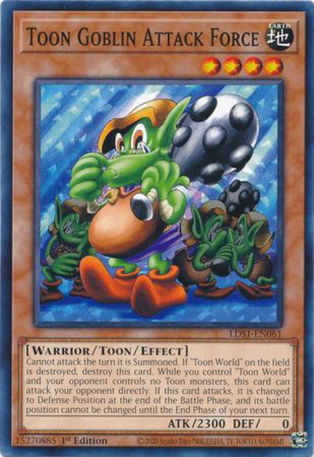 YuGiOh Legendary Duelists: Season 1 Common Toon Goblin Attack Force LDS1-EN061