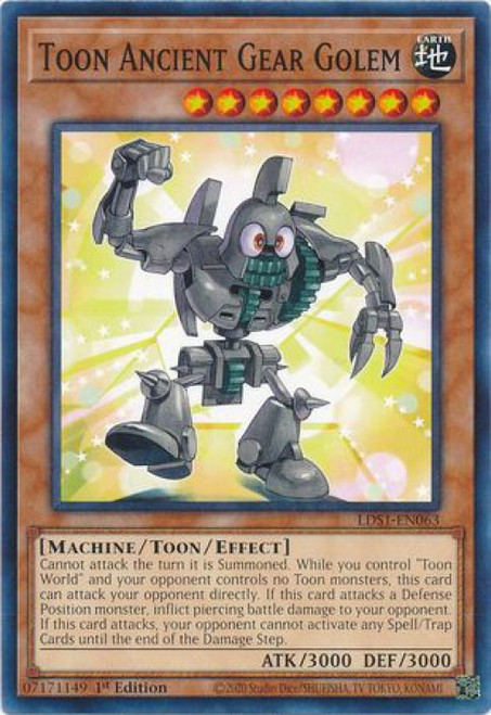YuGiOh Legendary Duelists: Season 1 Common Toon Ancient Gear Golem LDS1-EN063