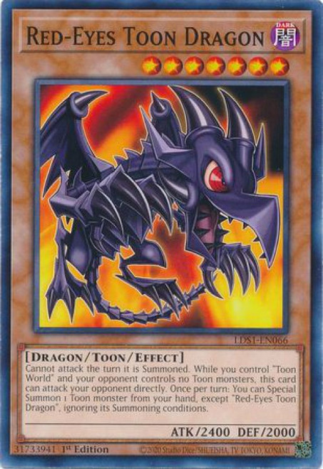 YuGiOh Legendary Duelists: Season 1 Common Red-Eyes Toon Dragon LDS1-EN066