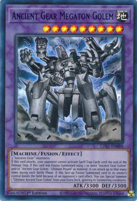 YuGiOh Legendary Duelists: Season 1 Ultra Rare Ancient Gear Megaton Golem LDS1-EN088 [Blue Variant]