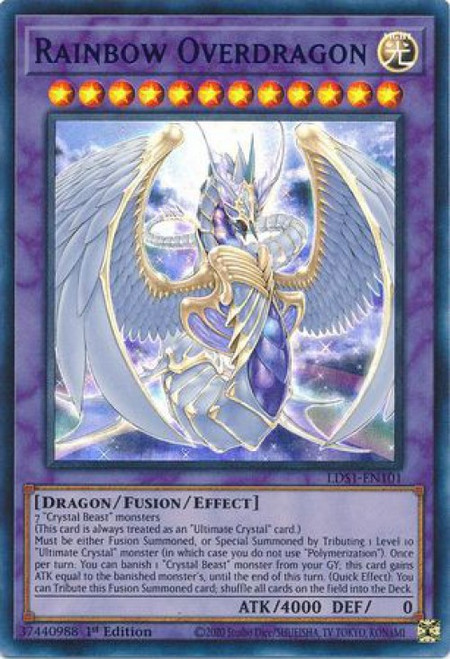 YuGiOh Legendary Duelists: Season 1 Ultra Rare Rainbow Overdragon LDS1-EN101 [Blue Variant]