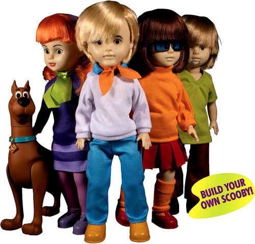 Living Dead Dolls Scooby Doo & Mystery Inc. LDD Presents Shaggy, Velma, Daphne & Fred Set of 4 Dolls [Each Contains Part to Build Scooby-Doo!]