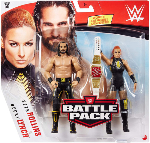 WWE Wrestling Battle Pack Series 66 Seth Rollins & Becky Lynch Action Figure 2-Pack