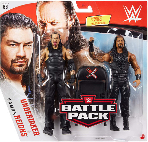 WWE Wrestling Battle Pack Series 66 Roman Reigns & Undertaker Action Figure 2-Pack