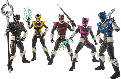 Power Rangers In Space Psycho Rangers Lightning Collection Black, Yellow, Red, Pink & Blue Rangers Exclusive Action Figure 5-Pack