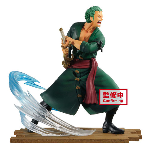 One Piece Log File Selection Zoro 5.5-Inch Collectible PVC Figure [Fight] (Pre-Order ships January)
