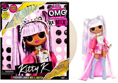 LOL Surprise OMG ReMix Series Kitty K Fashion Doll