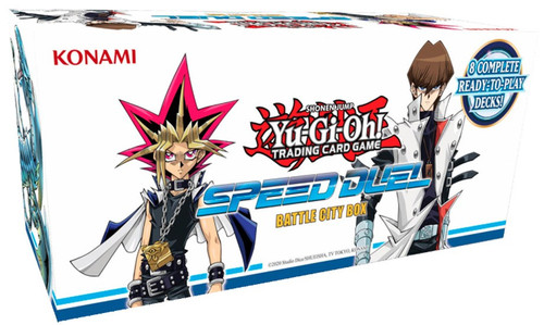 YuGiOh Trading Card Game Speed Duel Battle City Box Set [8 Complete Decks, Includes 3 Egyptian God Cards!]