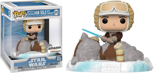 Funko The Empire Strikes Back POP! Star Wars Han Solo with Taun Taun Exclusive 6-Inch Vinyl Bobble Head #373 [Super-Sized, Battle at Echo Base #2]