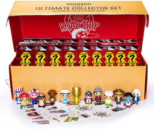 Ryan's World Road Trip Ultimate Collector Set Exclusive Micro Figure 52-Piece Set [Includes 1 BONUS Figure = 53 Figures All Together!]