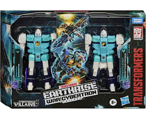 Transformers Generations Earthrise: War for Cybertron Trilogy Wingspan & Decepticon Pounce Exclusive Action Figure 2-Pack WFC-E30 [Clones]