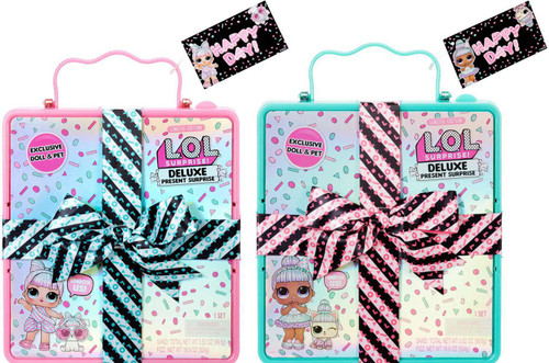 LOL Surprise DELUXE Present Surprise Sprinkles & Miss Partay with Pets Set of 2 Mystery Packs