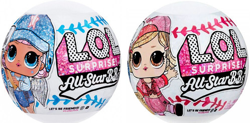 LOL Surprise All Stars BBs Series 1 Heartbreakers & Lucky Stars Set of 2 Mystery Packs [1 RANDOM Figure From Each Baseball Team!]