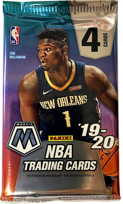 NBA Panini 2019-20 Prizm Mosaic Basketball Trading Card RETAIL Pack [4 Cards!]