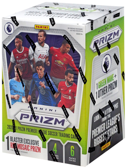 MLS Panini 2020 Prizm Soccer 2020 Prizm Premier League Soccer Trading Card BLASTER Box [6 Packs] (Pre-Order ships July)