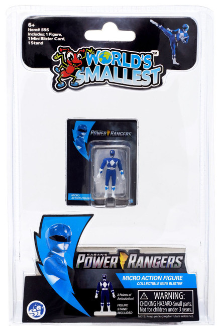 World's Smallest Mighty Moprhin Power Rangers Blue Ranger Micro Figure