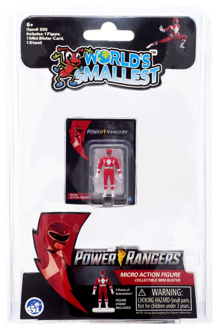 World's Smallest Mighty Moprhin Power Rangers Red Ranger Micro Figure