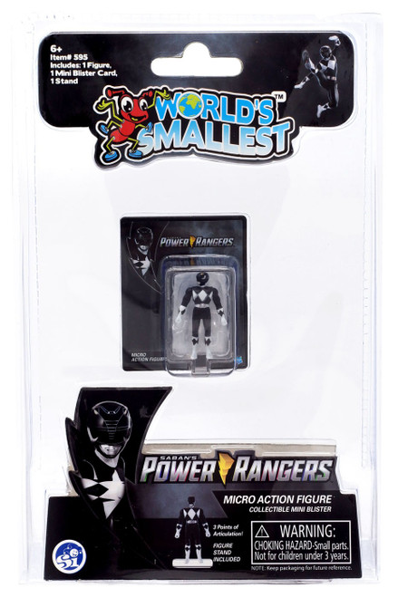World's Smallest Mighty Moprhin Power Rangers Black Ranger Micro Figure