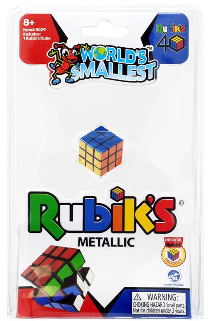 World's Smallest Rubik's Cube Puzzle Toy [Metallic]