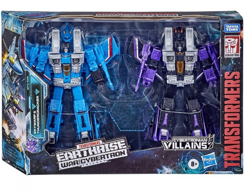 Transformers Generations Earthrise: War for Cybertron Trilogy Skywarp & Thundercracker Voyager Action Figure 2-Pack WFC-E29 [Seekers]