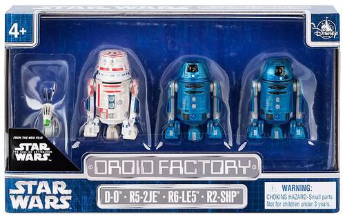 Disney Star Wars The Rise of Skywalker Droid Factory Exclusive Action Figure 4-Pack [D-0, R5-2JE, R6-LE5 & R2-SHP]