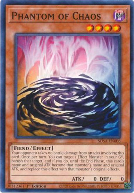 YuGiOh Sacred Beast Structure Deck Common Phantom of Chaos SDSA-EN006